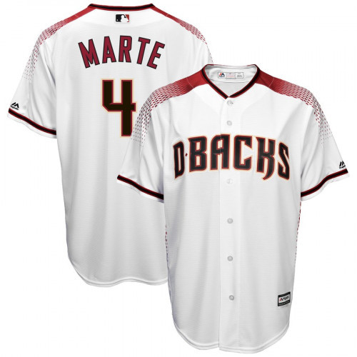 Men's Arizona Diamondbacks #4 Ketel Marte White Cool Base Stitched MLB Jersey