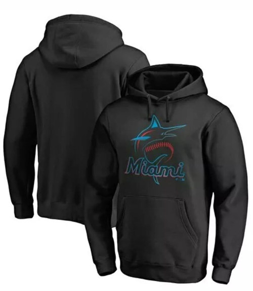 Men's Miami Marlins Black Hoodie
