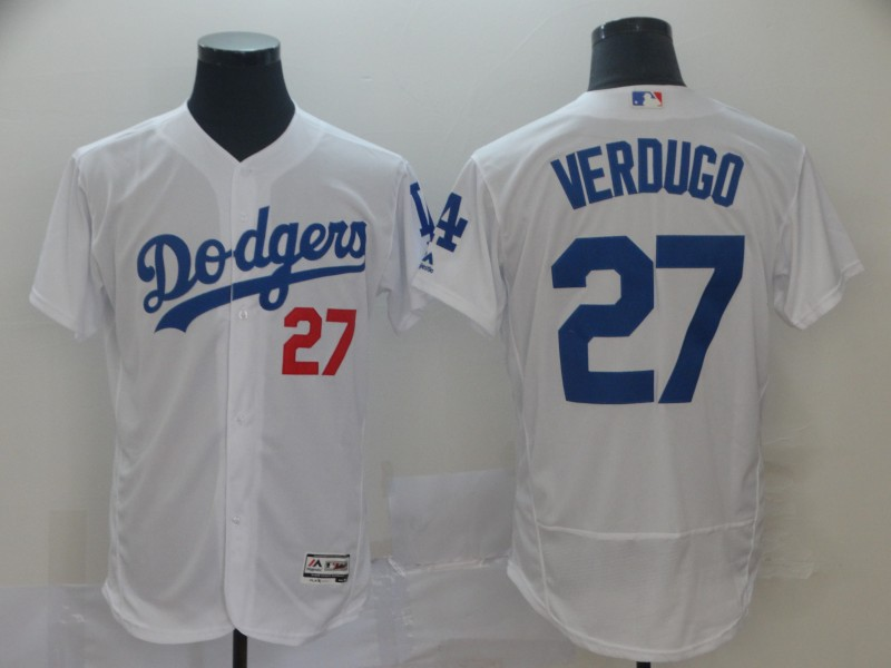 Men's Los Angeles Dodgers #27 Alex Verdugo White 2019 Flex Base Stitched MLB Jersey