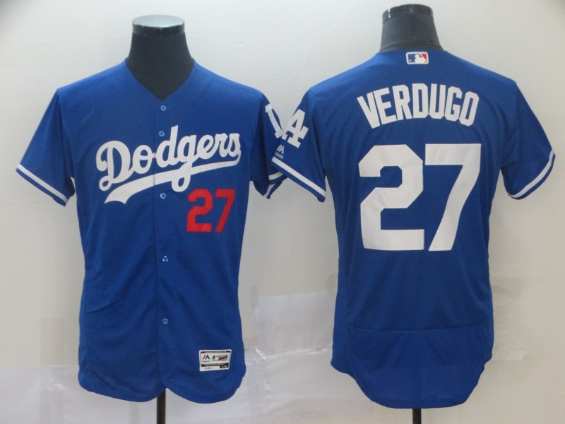 Men's Los Angeles Dodgers #27 Alex Verdugo Blue 2019 Flex Base Stitched MLB Jersey