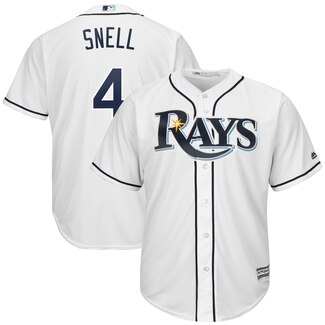 Men's Tampa Bay Rays #4 Blake Snell White Cool Base Stitched MLB Jersey