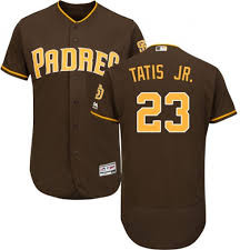 Men's San Diego Padres #23 Fernando Tatis Jr. Coffee Flex Base Stitched MLB Jersey