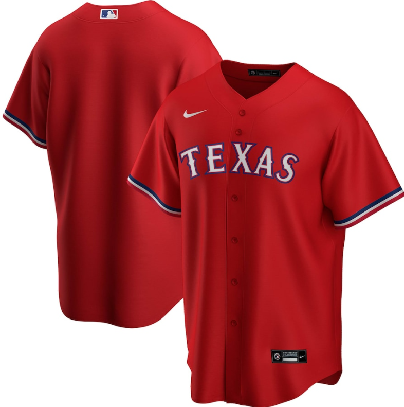 Men's Texas Rangers Blank Red Stitched MLB Jersey