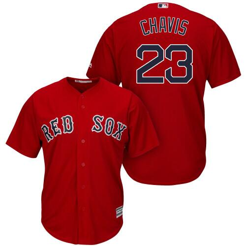 Men's Boston Red Sox #23 Michael Chavis Red 2019 Gold Program Cool Base Stitched MLB Jersey