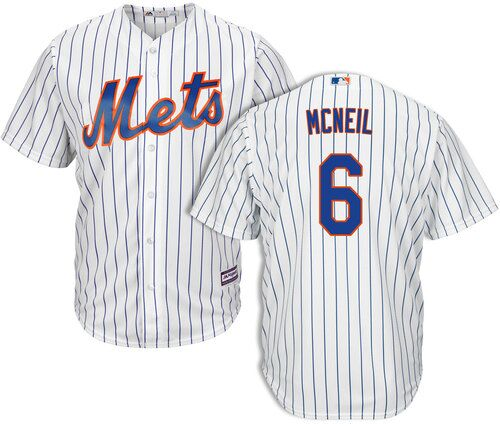 Men's New York Mets #6 Jeff Mcneil White Cool Base Stitched MLB Jersey