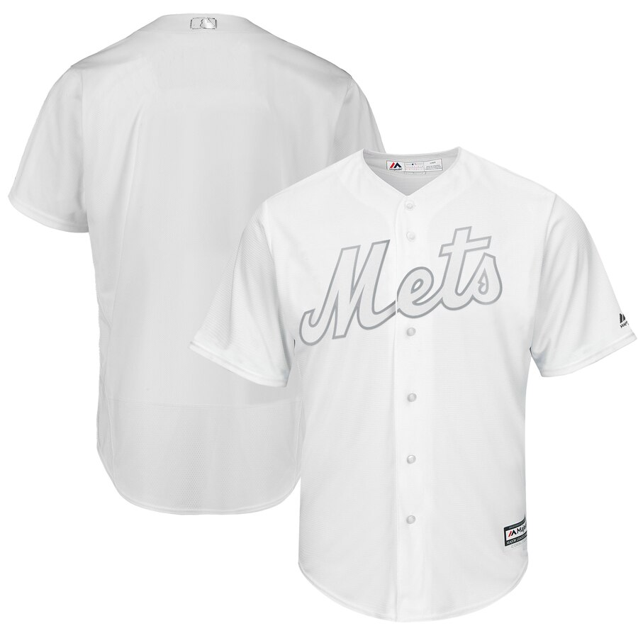 Men's New York Mets Majestic White 2019 Players' Weekend Replica Team Stitched MLB Jersey