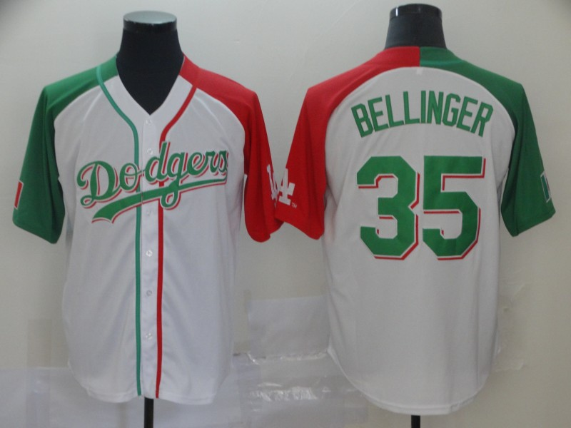 Men's Los Angeles Dodgers #35 Cody Bellinger Mexican Heritage Culture Night MLB Jersey