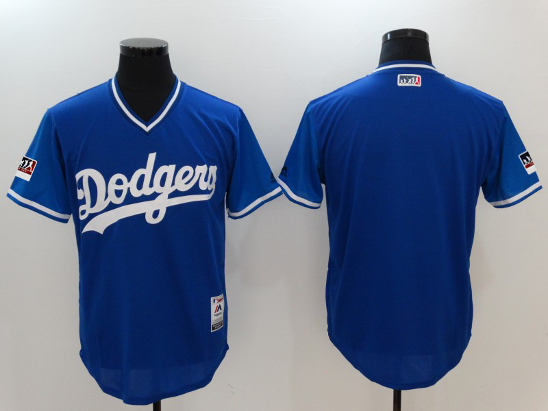 Men's Los Angeles Dodgers Majestic Royal/Light Blue 2018 Players' Weekend Team Stitched MLB Jersey