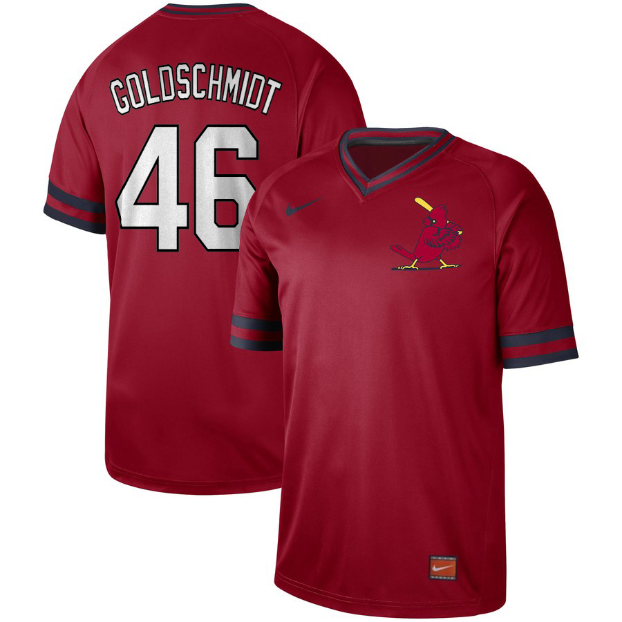 Men's St. Louis Cardinals #46 Paul Goldschmidt Red Cooperstown Collection Legend Stitched MLB Jersey