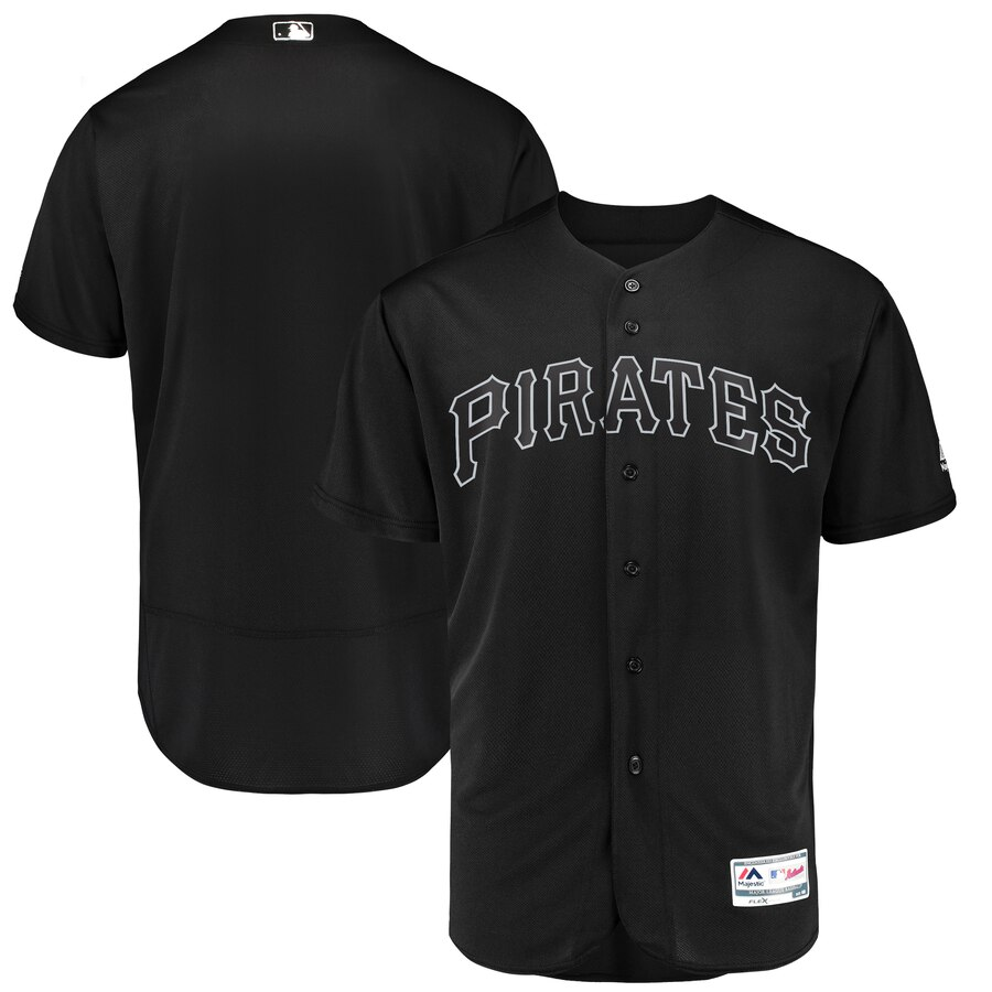Men's Pittsburgh Pirates Majestic Black 2019 Players' Weekend Replica Team Stitched MLB Jersey