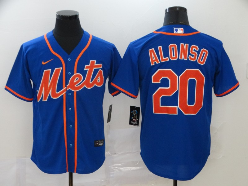 Men's New York Mets #20 Pete Alonso Blue Cool Base Stitched MLB Jersey