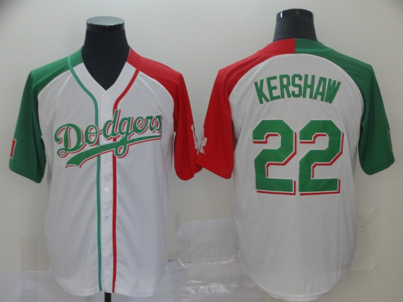 Men's Los Angeles Dodgers #22 Clayton Kershaw Mexican Heritage Culture Night MLB Jersey