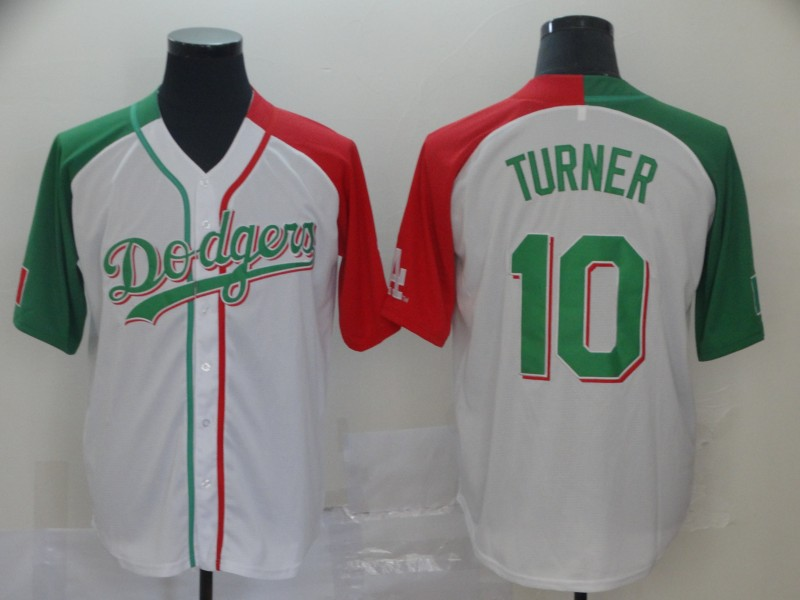 Men's Los Angeles Dodgers #10 Justin Turner Mexican Heritage Culture Night MLB Jersey