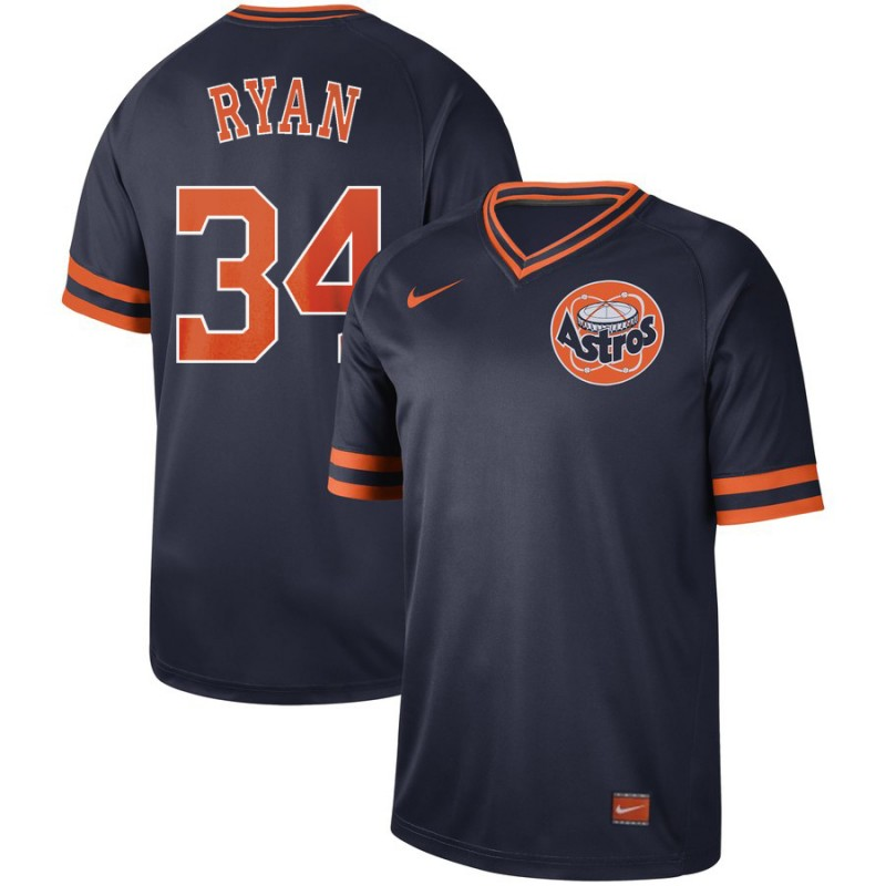 9769fba9f Men s Houston Astros  34 Nolan Ryan Navy Cooperstown Collection Legend Stitched  MLB Jersey