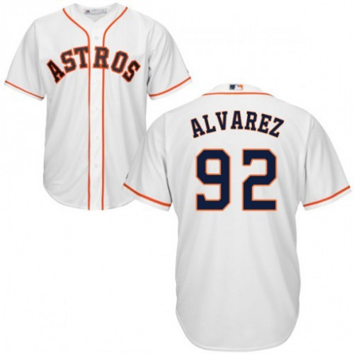 Men's Houston Astros Men's Houston Astros #92 Yordan Alvarez White Cool Base Stitched MLB Jersey Navy Cool Base Stitched MLB Jersey
