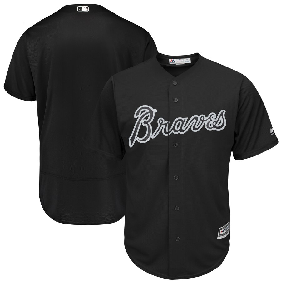 Men's Atlanta Braves Majestic Black 2019 Players' Weekend Replica Team Stitched MLB Jersey