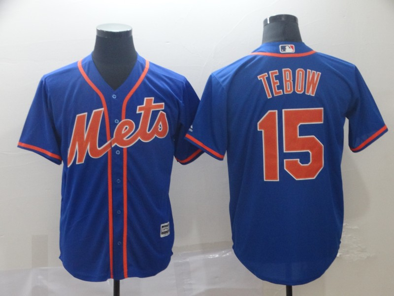Men's New York Mets #15Tim Tebow Blue 2019 Cool Base Stitched MLB Jersey