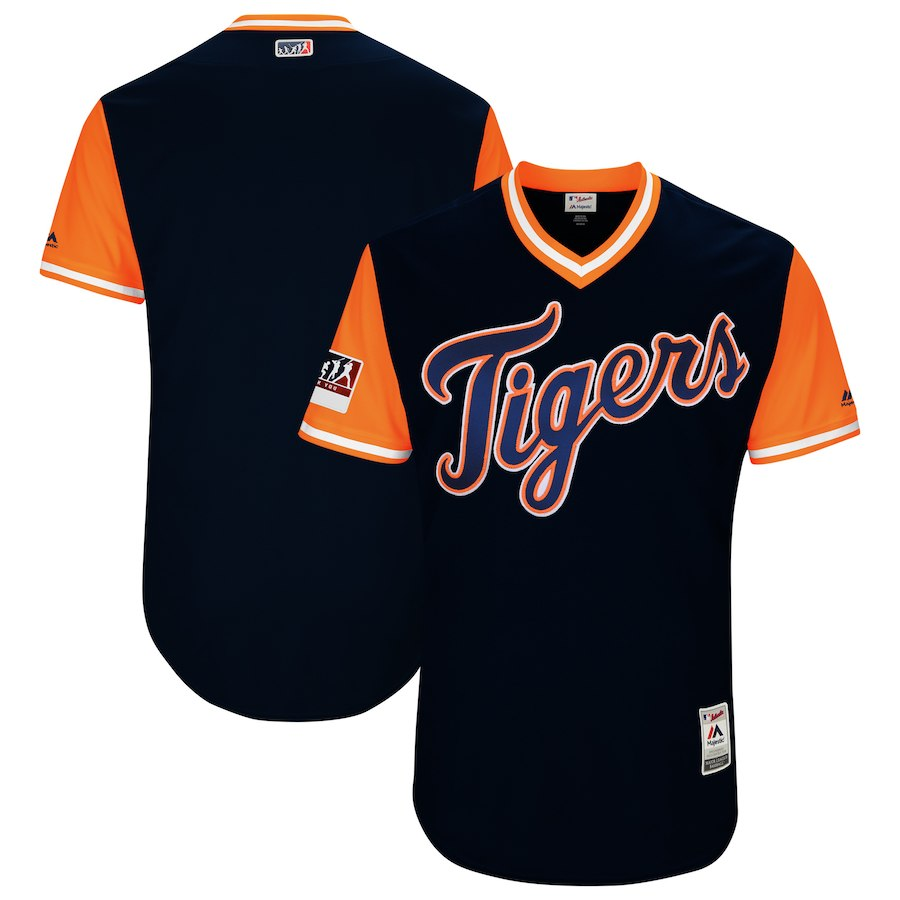 Men's Detroit Tigers Majestic Navy/Orange 2018 Players' Weekend Team Stitched MLB Jersey