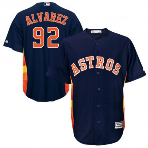 Men's Houston Astros #92 Yordan Alvarez Navy Cool Base Stitched MLB Jersey