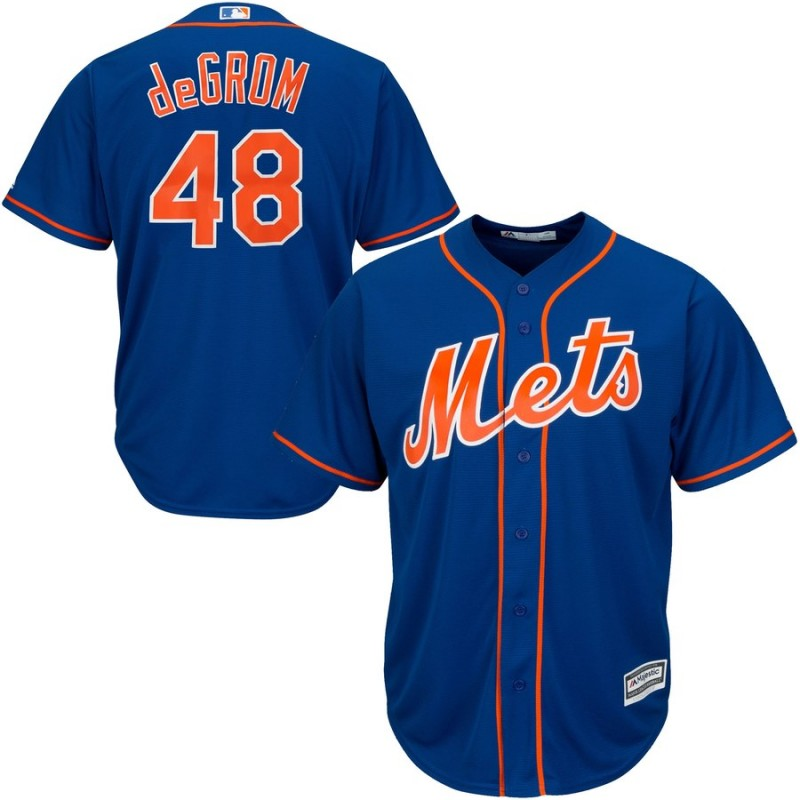 Men's New York Mets #48 Jacob deGrom Blue 2019 Cool Base Stitched MLB Jersey