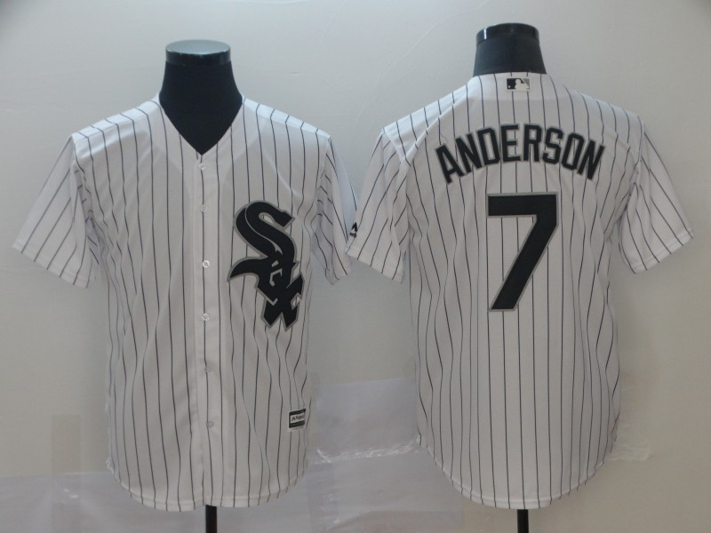 Men's Chicago White Sox #7 Tim Anderson White Cool Base Stitched MLB Jersey