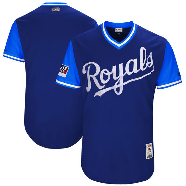 Men's Kansas City Royals Majestic Royal/Light Blue 2018 Players' Weekend Authentic Team Stitched MLB Jersey
