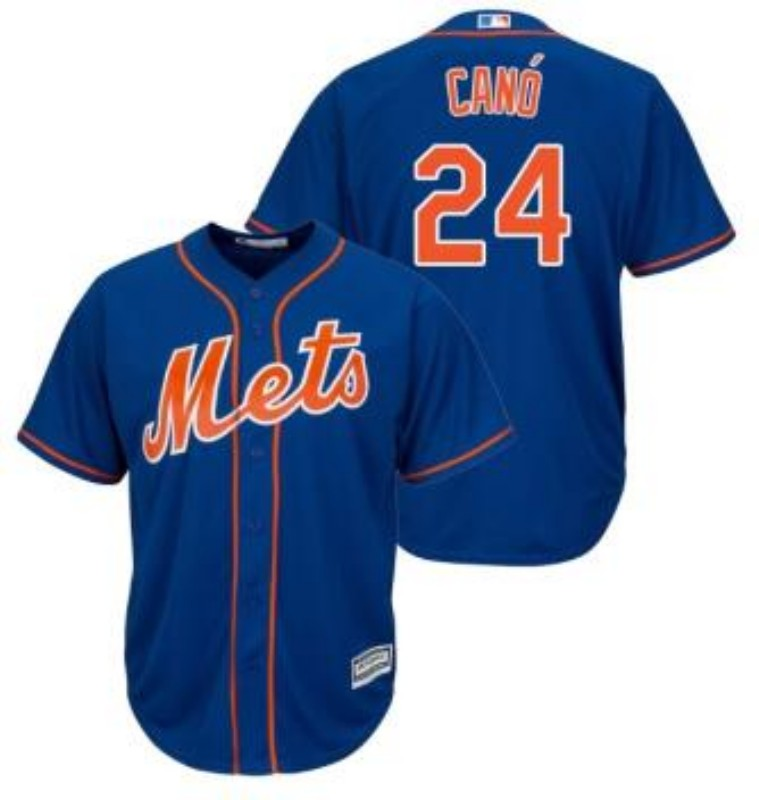 Men's New York Mets #24 Robinson Cano Blue 2019 Cool Base Stitched MLB Jersey