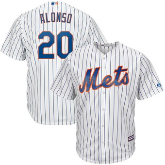 Men's New York Mets #20 Pete Alonso White 2019 Cool Base Stitched MLB Jersey