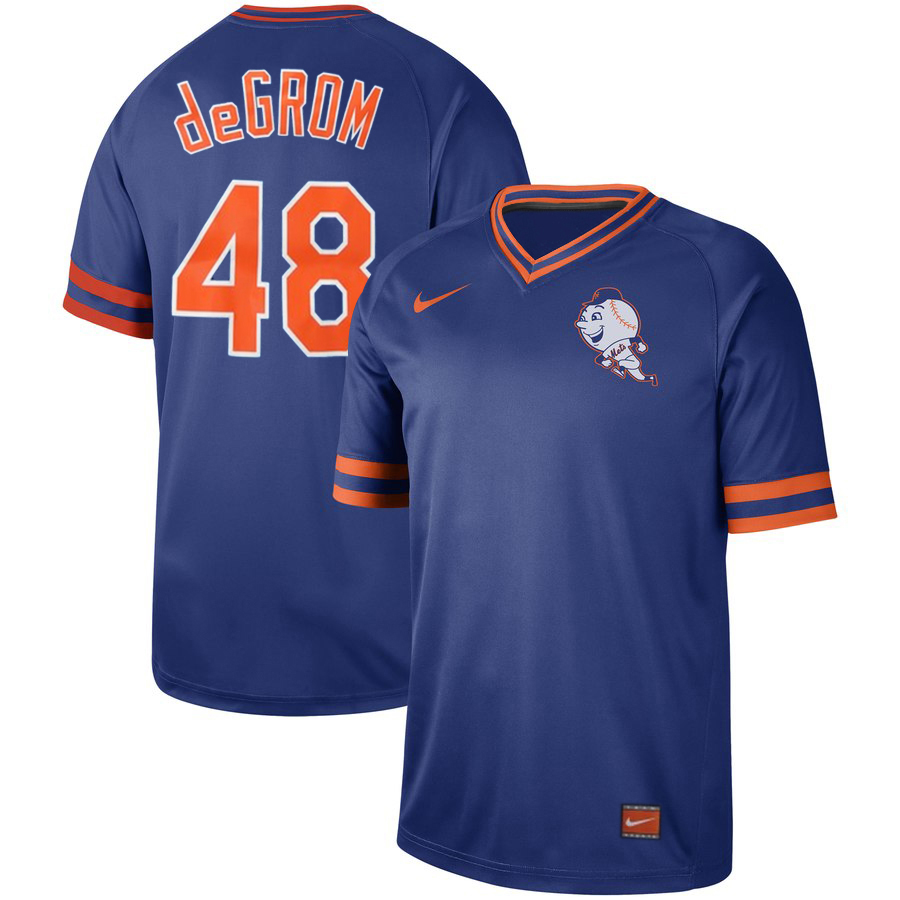 Men's New York Mets #48 Jacob deGrom Blue Cooperstown Collection Legend Stitched MLB Jersey
