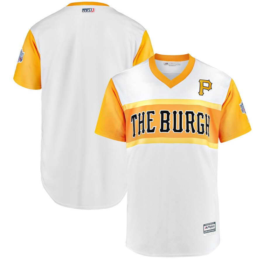 Men's Pittsburgh Pirates White 2019 Little League Classic Replica Team Stitched MLB Jersey