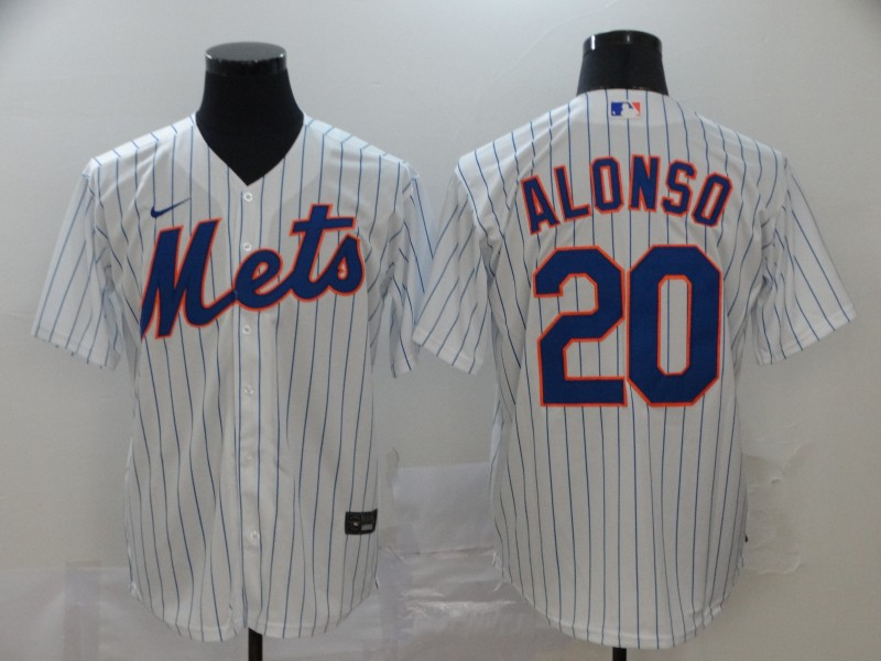 Men's New York Mets #20 Pete Alonso White Cool Base Stitched MLB Jersey