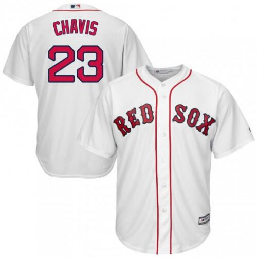Men's Boston Red Sox #23 Michael Chavis White 2019 Gold Program Cool Base Stitched MLB Jersey