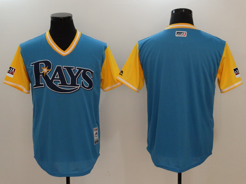 Men's Tampa Bay Rays Majestic Royal/Light Yellow 2018 Players' Weekend Team Stitched MLB Jersey