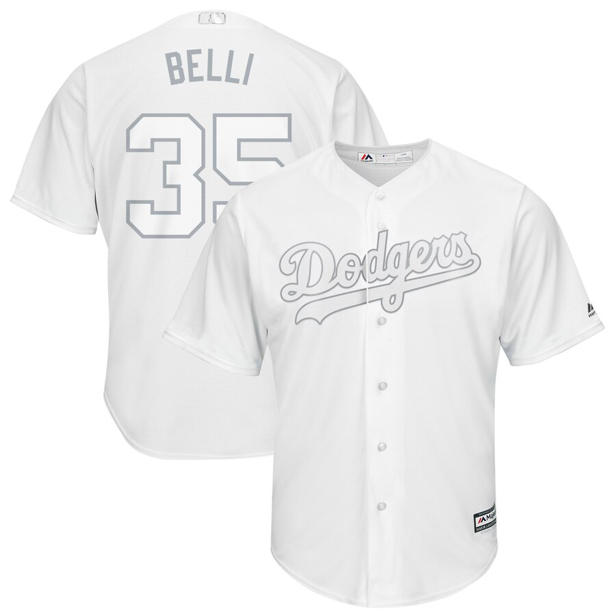 Men's Los Angeles Dodgers #35 Cody Bellinger Majestic White 2019 Players' Weekend Replica Player Stitched MLB Jersey