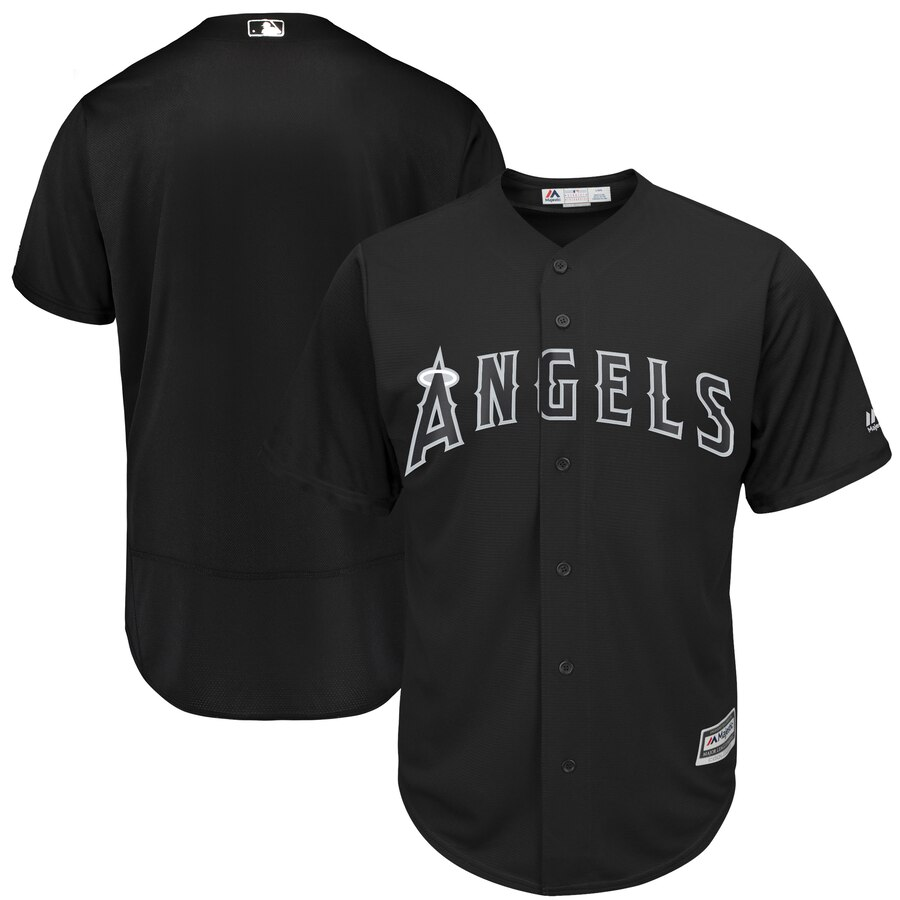 Men's Los Angeles Angels Majestic Black 2019 Players' Weekend Replica Team Stitched MLB Jersey