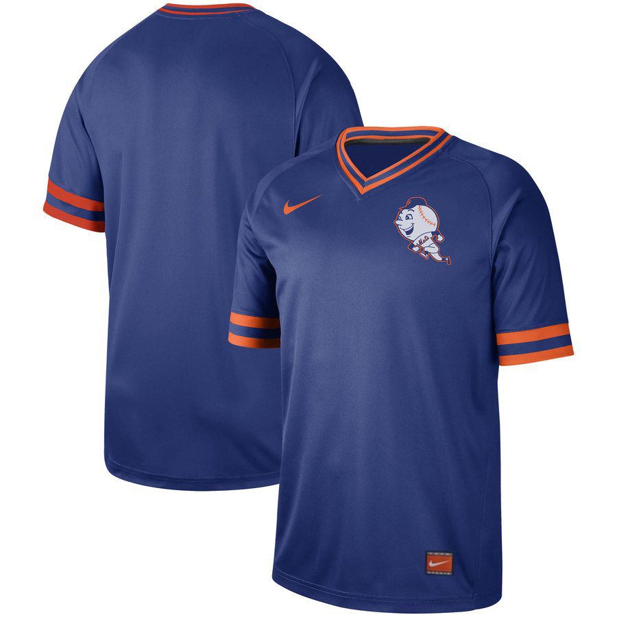Men's New York Mets Blank Blue Cooperstown Collection Legend Stitched MLB Jersey