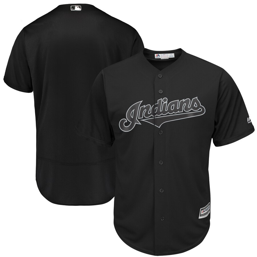Men's Cleveland Indians Majestic Black 2019 Players' Weekend Replica Team Stitched MLB Jersey