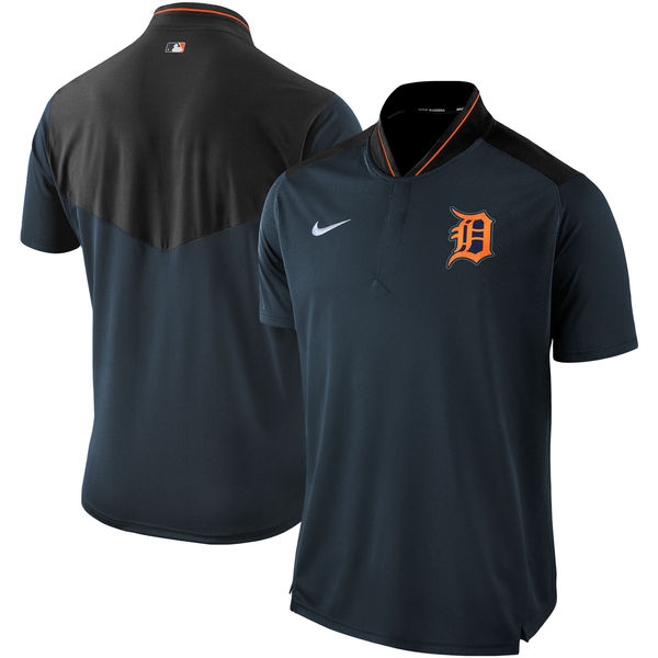 Men's Detroit Tigers Navy Authentic Collection Elite Performance Polo