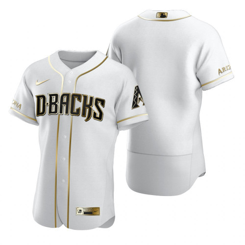 Men's Arizona Diamondbacks Blank 2020 White Golden Flex Base Stitched MLB Jersey