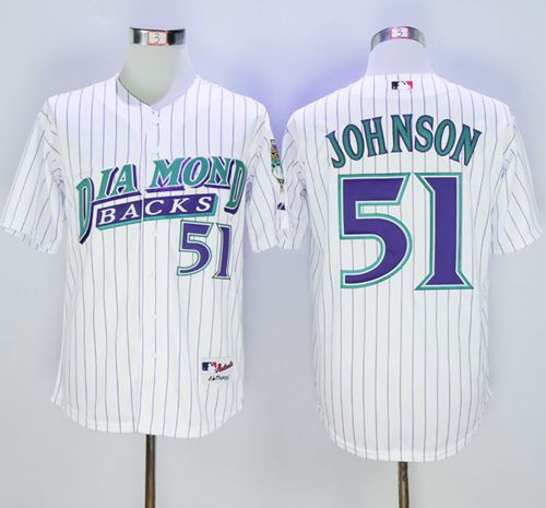 Diamondbacks #51 Randy Johnson White 1999 Turn Back The Clock Stitched MLB Jersey