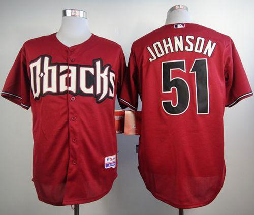 Diamondbacks #51 Randy Johnson Black Cool Base Stitched MLB Jersey