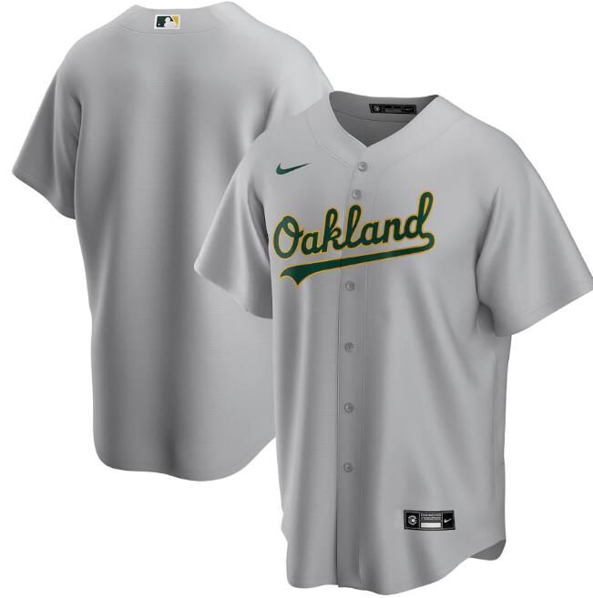 Men's Oakland Athletics Blank Grey Cool Base Stitched Jersey