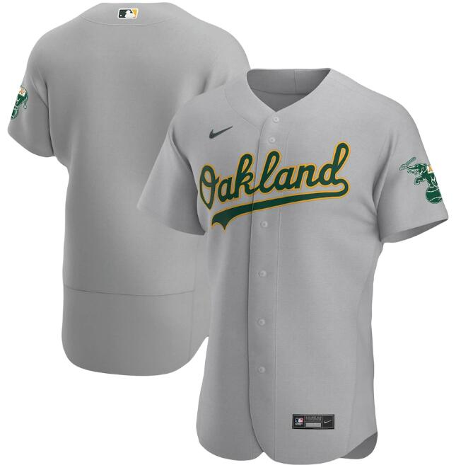 Men's Oakland Athletics Blank Grey Flex Base Stitched Jersey