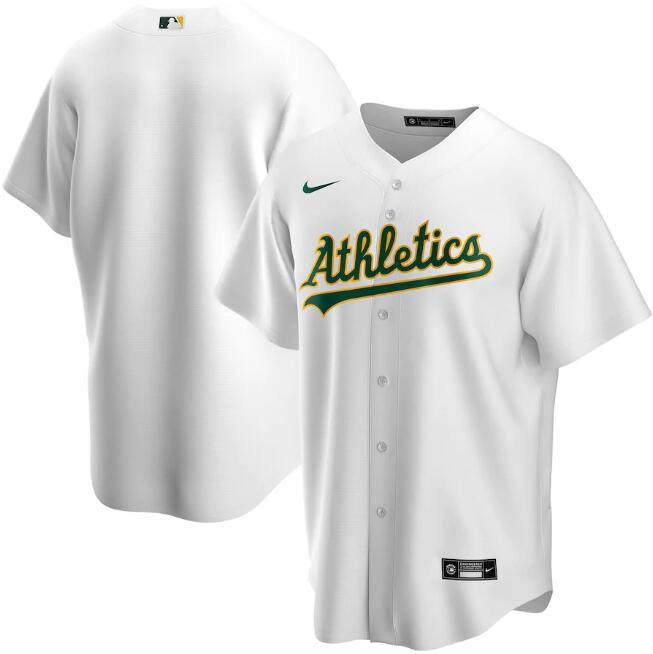 Men's Oakland Athletics Blank White Cool Base Stitched Jersey