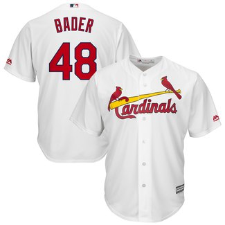 Men's St. Louis Cardinals #48 Harrison Bader White Cool Base Stitched MLB Jersey
