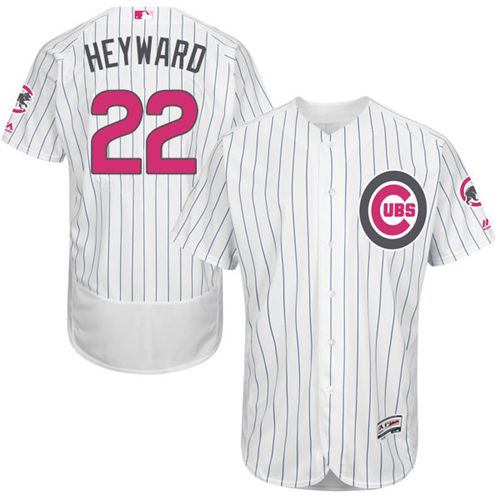 Cubs #22 Jason Heyward White(Blue Strip) Flexbase Authentic Collection 2016 Mother's Day Stitched MLB Jersey