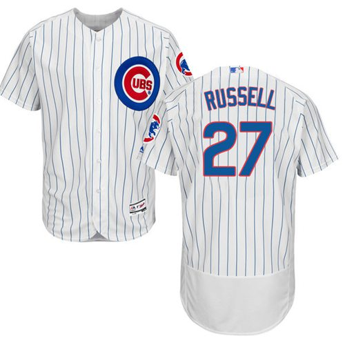 Cubs #27 Addison Russell White Flexbase Authentic Collection Stitched MLB Jersey