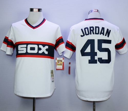 Mitchell And Ness 1983 White Sox #45 Michael Jordan White Throwback Stitched MLB Jersey