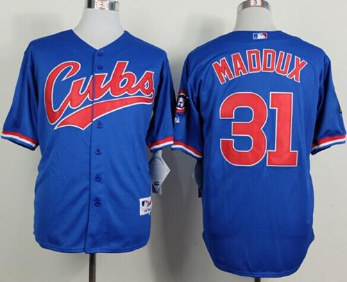 Cubs #31 Greg Maddux Blue 1994 Turn Back The Clock Stitched MLB Jersey