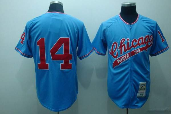 Mitchell and Ness White Sox #14 Bill Melton Stitched Blue Throwback MLB Jersey